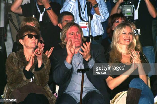 Vivianne Blassel Gerard Depardieu and Adriana Karembeu