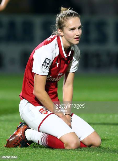 Vivianne Miedema of Arsenal during The FA WSL Continental Tyres Cup match between Arsenal against London Bees at Meadow Park Borehamwood FC on 12 Oct...