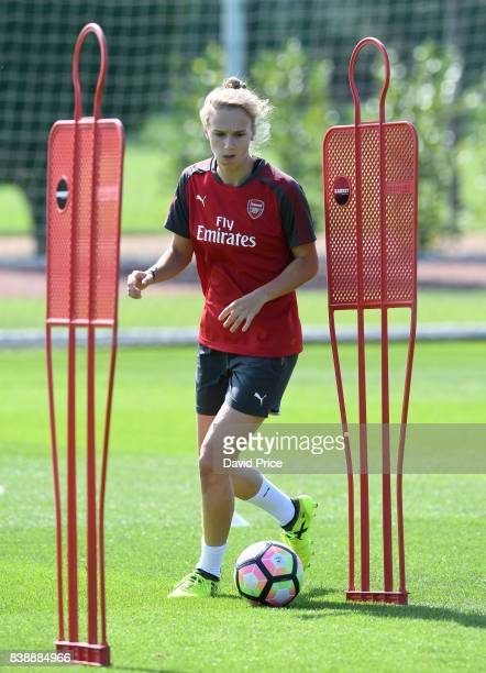 Vivianne Miedema of Arsenal Women during an Arsenal Women Training Session at London Colney on August 25 2017 in St Albans England