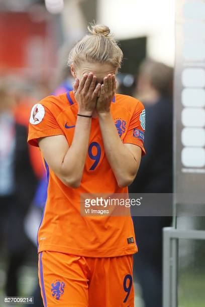 Vivianne Miedema of Holland Women cries during the UEFA WEURO 2017 final match between The Netherlands and Denmark at the Grolsch Veste on August 06...