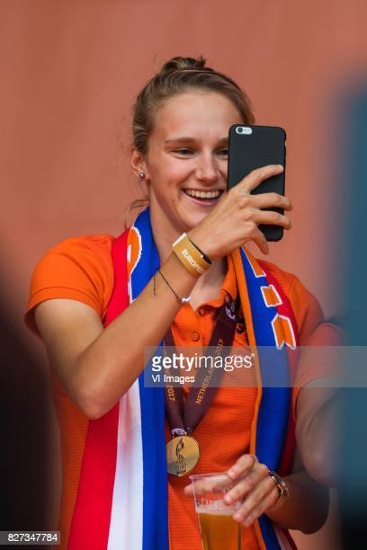 Vivianne Miedema of Holland Women during the honoring of the Netherlands women team at Park Lepelenburg on August 07 2017 in Utrecht the Netherlands