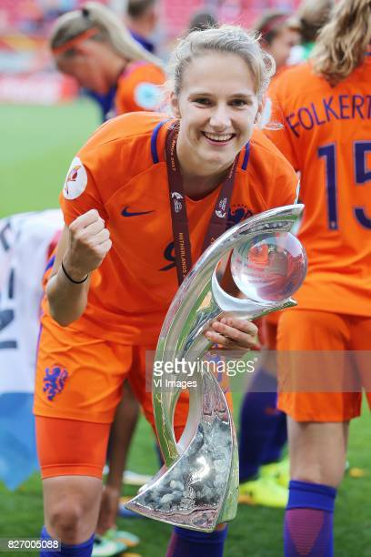 Vivianne Miedema of Holland Women during the UEFA WEURO 2017 final match between The Netherlands and Denmark at the Grolsch Veste on August 06 2017...