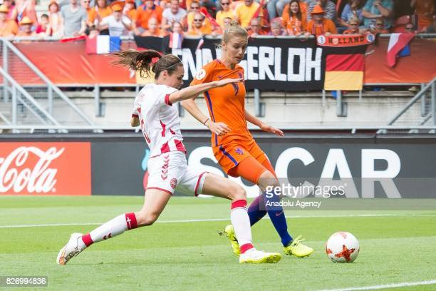 Vivianne Miedema of Netherlands in action during the Final match of the UEFA Women's Euro 2017 between Netherlands and Denmark held at FC Twente...
