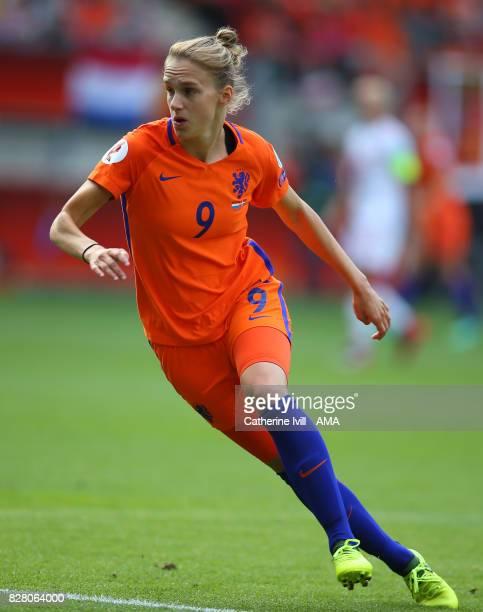 Vivianne Miedema of Netherlands Women during the UEFA Women's Euro 2017 final match between Denmark and Netherlands at De Grolsch Veste Stadium on...