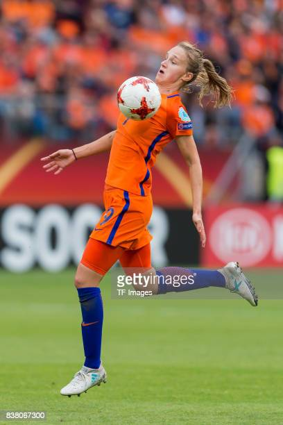 Vivianne Miedema of the Netherlands controls the ball during their Group A match between Netherlands and Norway during the UEFA Women's Euro 2017 at...