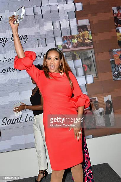 Vivica A Fox accepts an award onstage during the 5th Annual Foundation for Letters Gala at IAC Building on October 19 2016 in New York City