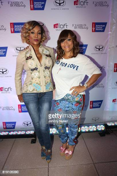 Vivica A Fox and Simone I Smith attends A Toast To Summer Hosted By Simone I Smith at Aloft Hotel on July 19 2017 in New York City