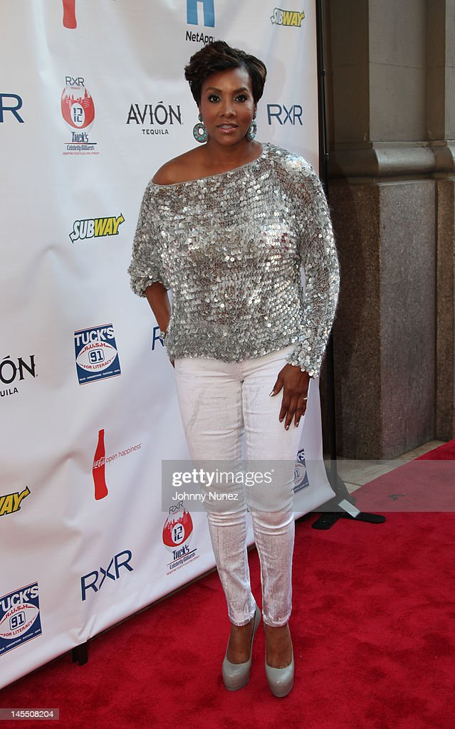 <a gi-track='captionPersonalityLinkClicked' href=/galleries/search?phrase=Vivica+A.+Fox&family=editorial&specificpeople=201901 ng-click='$event.stopPropagation()'>Vivica A. Fox</a> attends the NY Giants Justin Tuck 4th Annual celebrity billiards tournament at Slate NYC on May 31, 2012 in New York City.