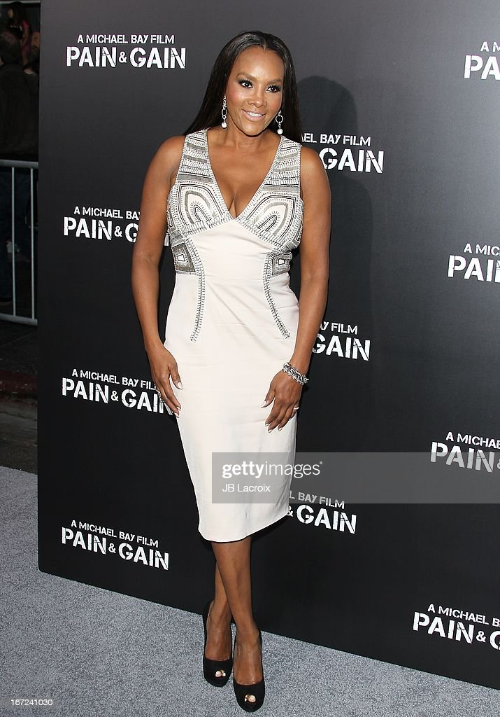 Vivica A. Fox attends the 'Pain & Gain' premiere held at TCL Chinese Theatre on April 22, 2013 in Hollywood, California.