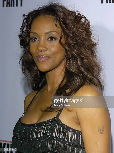 Vivica A Fox during 'Kill Bill Vol 1' DVD Release Party at The Playboy Mansion in Holmby Hills California United States