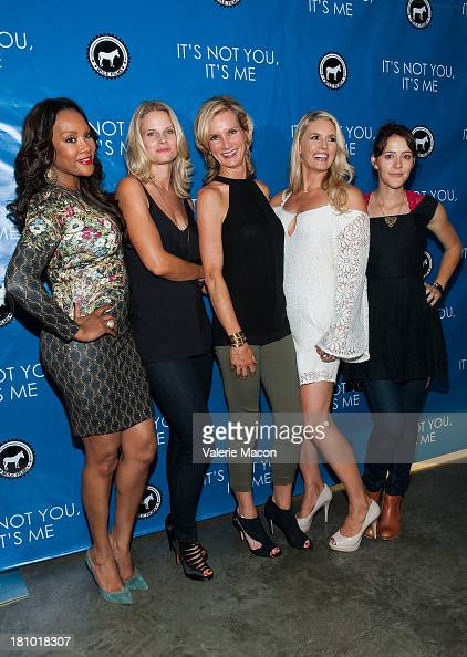Vivica A Fox Joelle Carter Beth Littleford Jessica York and Abby Miller arrives at the premiere of 'It's Not You It's Me' at Downtown Independent...