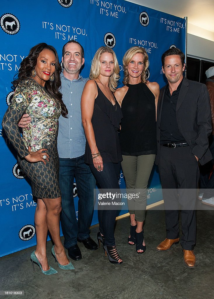 Vivica A. Fox, Nathan Ives, Joelle Carter, Beth Littleford and Ross McCall arrives at the premiere of 'It's Not You, It's Me' at Downtown Independent Theatre on September 18, 2013 in Los Angeles, California.