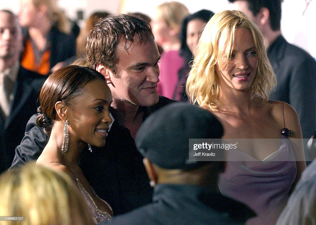 <a gi-track='captionPersonalityLinkClicked' href=/galleries/search?phrase=Vivica+A.+Fox&family=editorial&specificpeople=201901 ng-click='$event.stopPropagation()'>Vivica A. Fox</a>, <a gi-track='captionPersonalityLinkClicked' href=/galleries/search?phrase=Quentin+Tarantino&family=editorial&specificpeople=171796 ng-click='$event.stopPropagation()'>Quentin Tarantino</a> and <a gi-track='captionPersonalityLinkClicked' href=/galleries/search?phrase=Uma+Thurman&family=editorial&specificpeople=171973 ng-click='$event.stopPropagation()'>Uma Thurman</a> during Kill Bill: Vol. 2 World Premiere - Red Carpet at Arclight Cinerama Dome in Los Angeles, California, United States.
