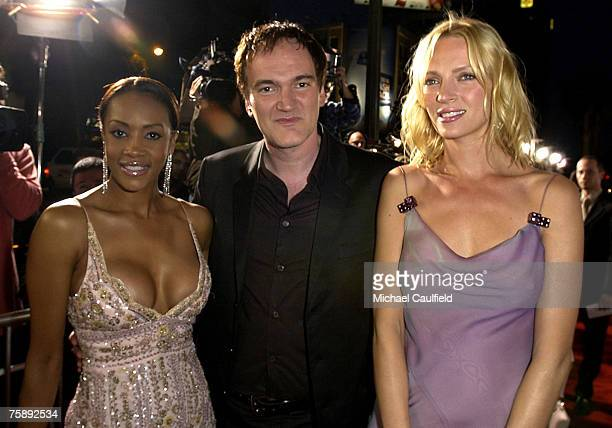 Vivica A Fox Quentin Tarantino and Uma Thurman