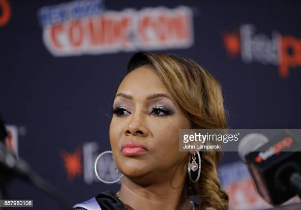 Vivica A Fox speaks during the Explosion Jones panel during the 2017 New York Comic Con Day 1 on October 5 2017 in New York City
