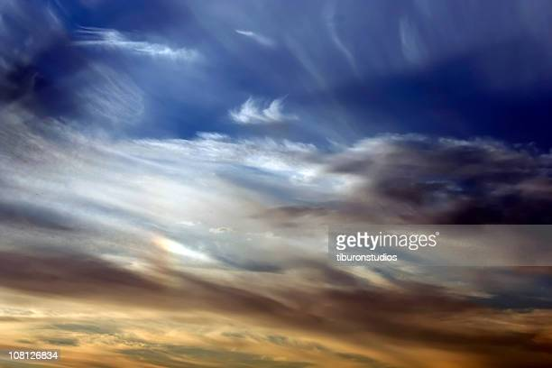Vivid Colorful Sunset Sky Background