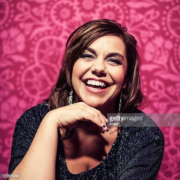 Vivid portrait of beautiful woman