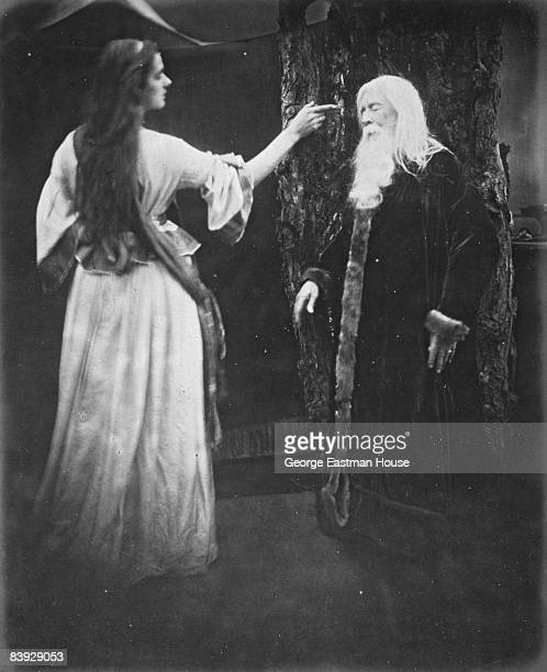 Vivien and Merlin as depicted by Julia Margaret Cameron to illustrate Tennyson's 'Idylls of the King' ca1875 Great Britain
