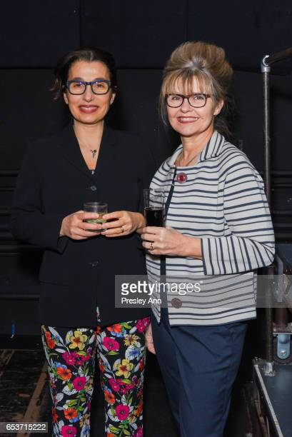 Vivanne Bittencourt and Darinka Chase attend The Wooster Group's 2017 Benefit Hosted by Maura Tierney on March 15 2017 in New York City