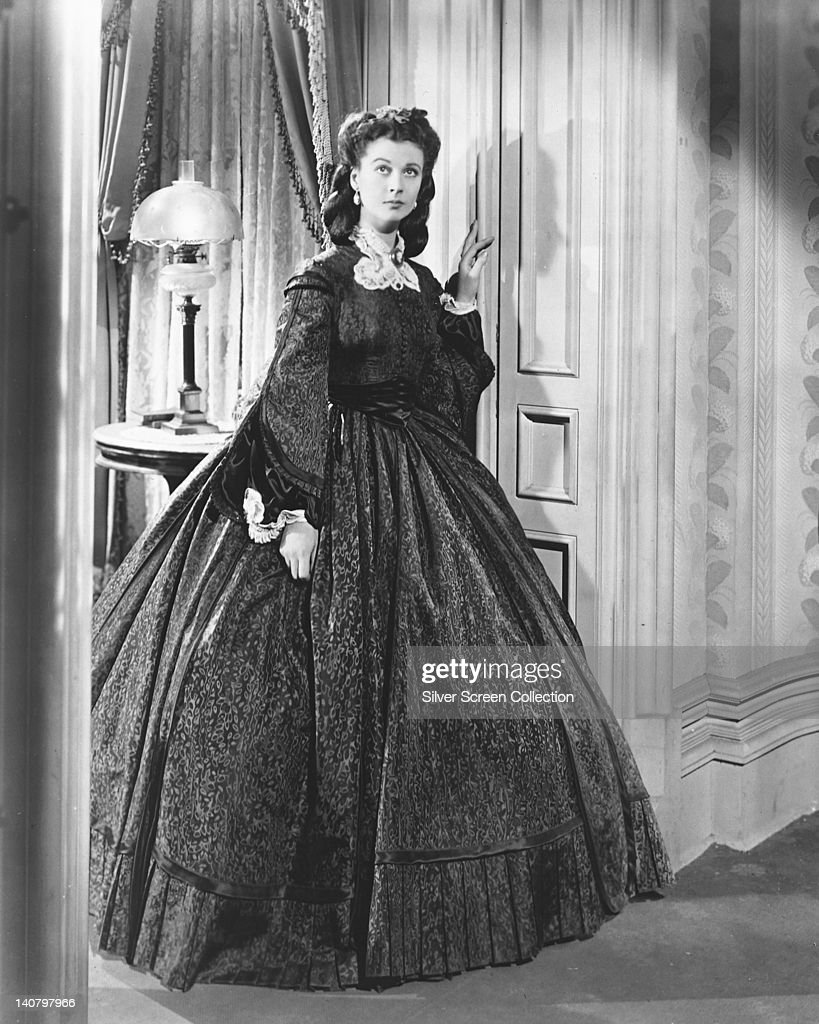 Vivien Leigh British actress in period costume in a publicity portrait issued for the film 'Gone with the Wind' 1939 The drama directed by Victor...