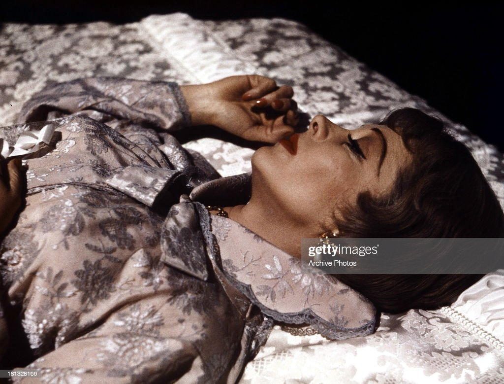 Vivien Leigh lies in bed in a scene from the film 'The Roman Spring Of Mrs. Stone', 1961.