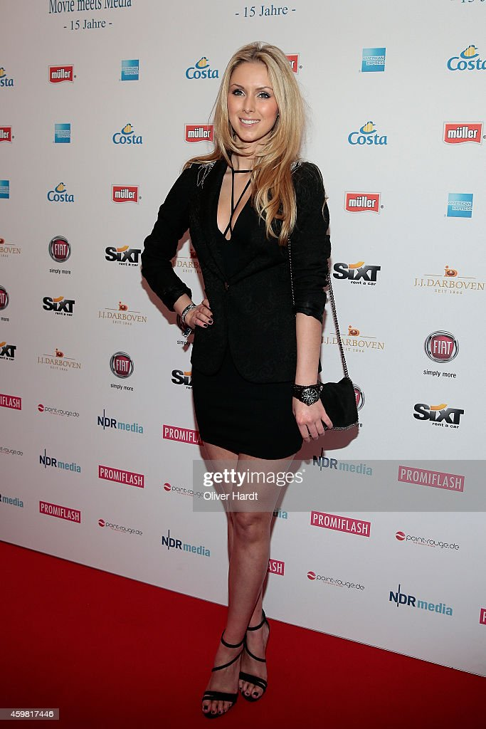 Vivien Wulf poses during the event 'Movie Meets Media' at Hotel Atlantic on December 1, 2014 in Hamburg, Germany.