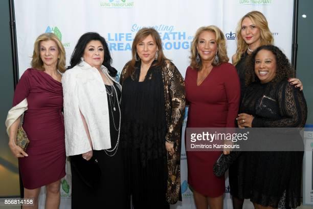 Vivienne Diamant Debbie Cohen Lorraine Schwartz Denise Rich Ofira Sandberg and Keisha Escoffery attend the Lung Transplant Project Gala with special...