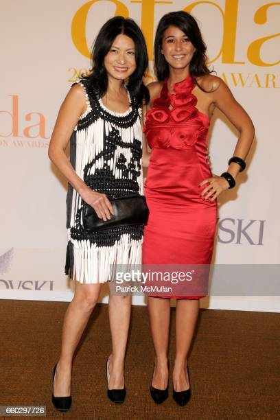 Vivienne Tam and Emmanuelle Chriqui attend CFDA AWARDS 2009 ARRIVALS at Alice Tully Hall on June 15 2009 in New York City