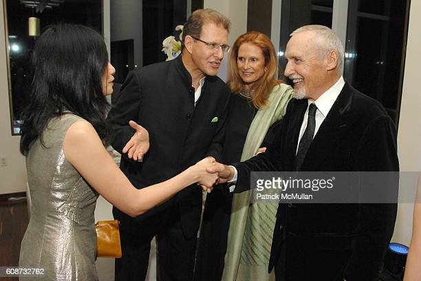 Vivienne Tam Edouard Ettedgui Sylvie Ettedgui and Dennis Hopper attend MANDARIN ORIENTAL HOTEL GROUP Party for the SOTHEBY'S Contemporary Asian Art...