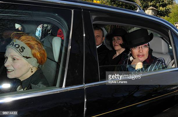 Vivienne Westwood and Adam Ant attend The Funeral of Malcolm Mclaren on April 22 2010 in London England