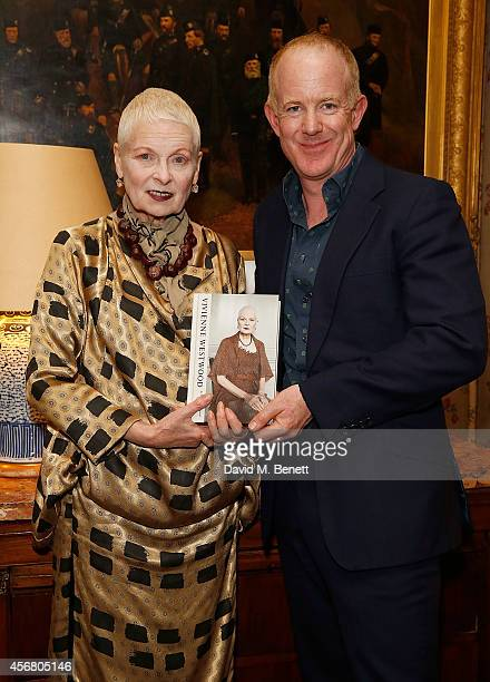 Vivienne Westwood and Ian Kelly at Mark's Club for the Vivienne Westwood Autobiography Launch on October 7 2014 in London England