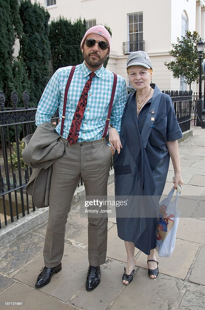 Vivienne Westwood Arrives At A Press Conferences To Present Fashion For Relief To Raise Money For The Rotary Flood Disaster Appeal, At The Rotary Club In Regents Park, London..