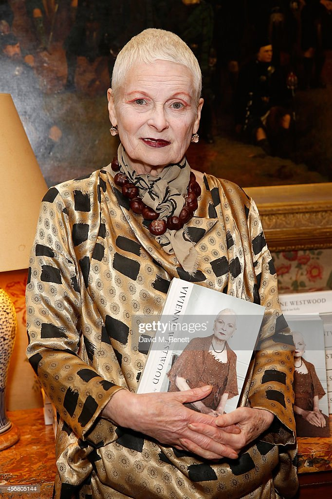 Vivienne Westwood at Mark's Club for the Vivienne Westwood Autobiography Launch on October 7 2014 in London England