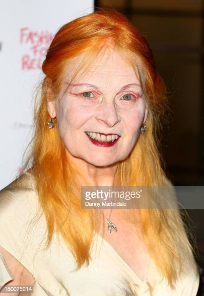 Vivienne Westwood attend an olympic celebration dinner hosted by Naomi Campbell in partnership with Fashion For Relief at LondonÕs Downtown Mayfair...