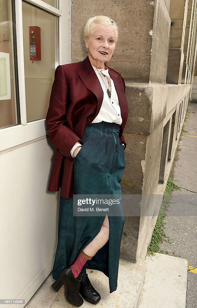 Vivienne Westwood attends her show as part of the Paris Fashion Week Womenswear Spring/Summer 2016 on October 3 2015 in Paris France