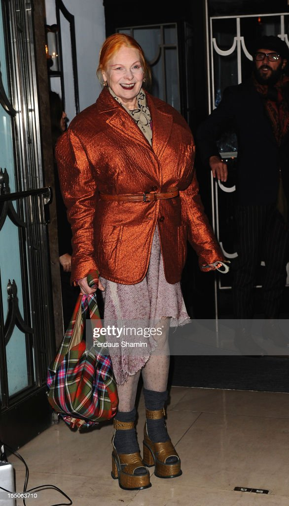 Vivienne Westwood attends the Harper's Bazaar Woman of the Year Awards at Claridge's Hotel on October 31, 2012 in London, England.