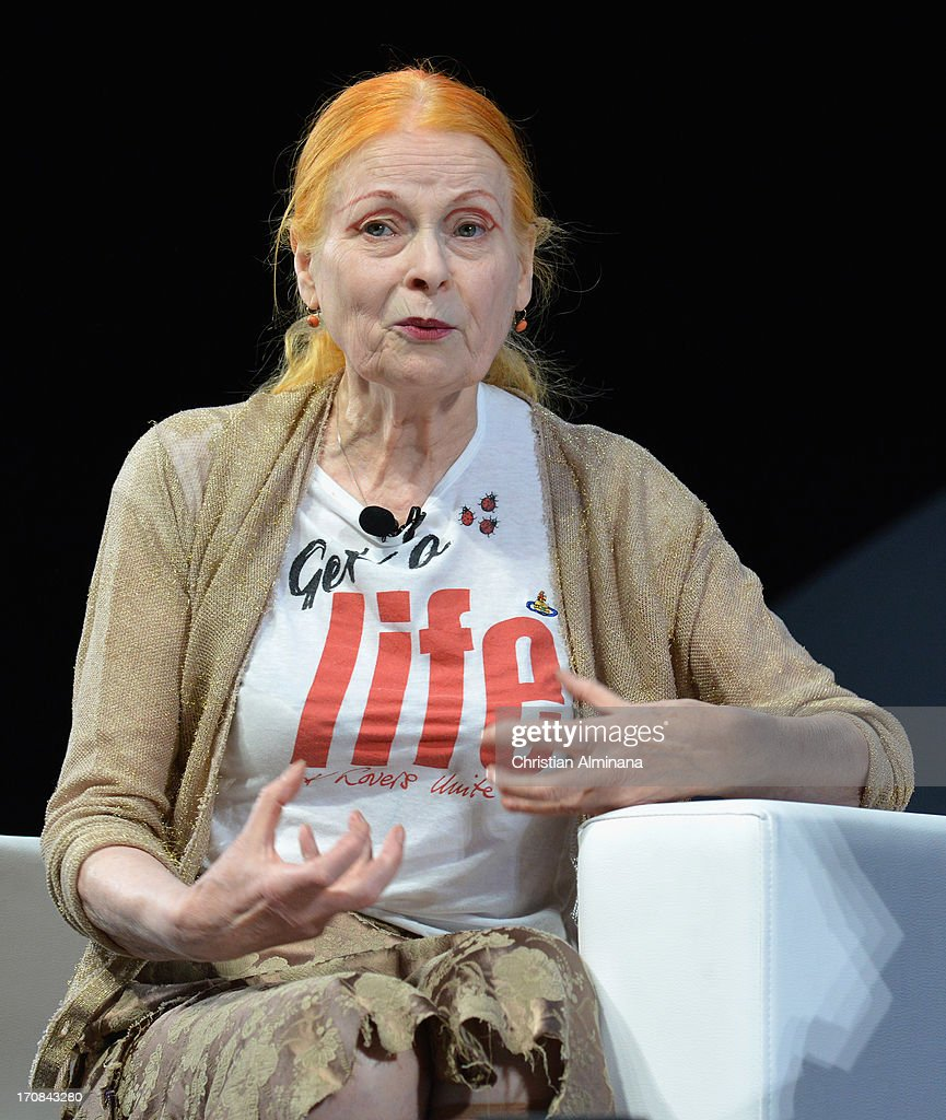 Vivienne Westwood attends the SapientNitro Seminar as part of the 60th Cannes Lions International Festival of Creativity at Palais des Festivals on June 18, 2013 in Cannes, France.