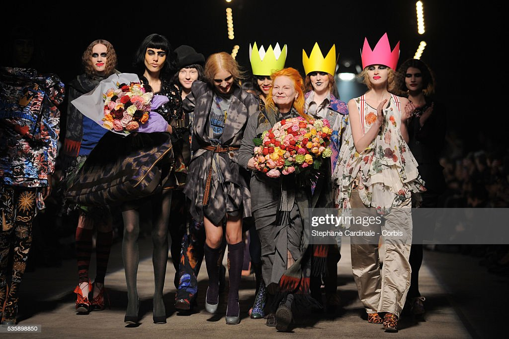 Vivienne Westwood attends tthe Vivienne Westwood Ready To Wear show, as part of the Paris Fashion Week Fall/Winter 2010-2011.0