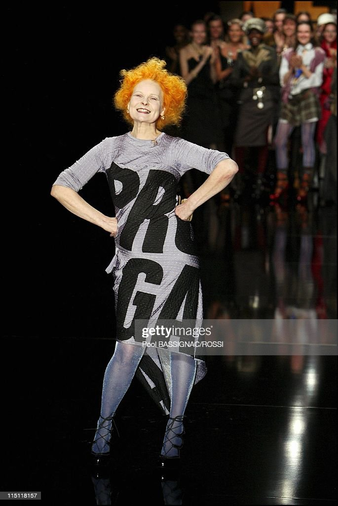 Vivienne Westwood Fall Winter 20052006 Ready to Wear Fashion Show in Paris France on March 01 2005 Designer Vivienne Westwood