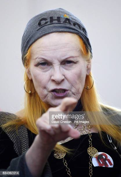 Vivienne Westwood was awarded an honorary degree by HeriotWatt University at its Scottish Borders campus in Galashiels