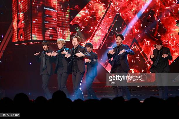 VIXXBrown Eyed GirlsBAPEXID and Dynamic Duo perform at Show Champion in Seoul South Korea on 18th November 2015