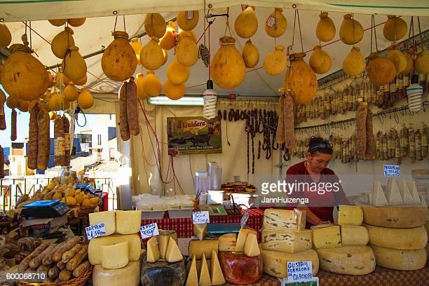 Vizzini, Sicily: Cheese Booth at Ricotta Festival
