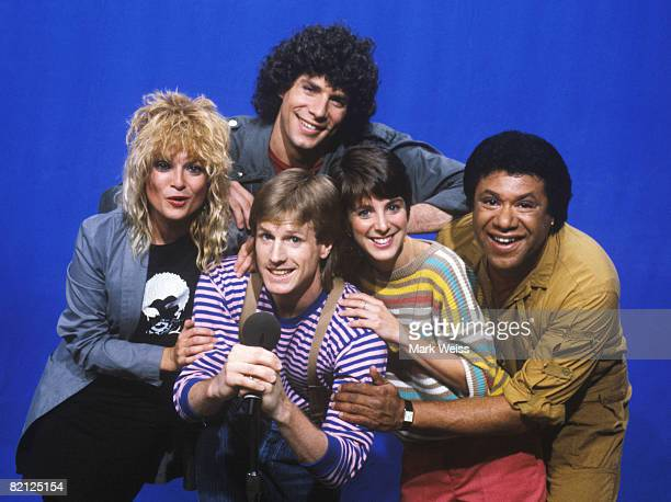 MTV VJs Mark Goodman Nina Blackwood Alan Hunter Martha Quinn and JJ Jackson