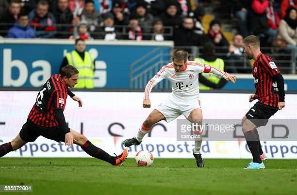 Bastian Oczipka Philipp Lahm Marc Stendera fcb21 Fussball Bundesliga Eintracht Frankfurt FC Bayern München 01