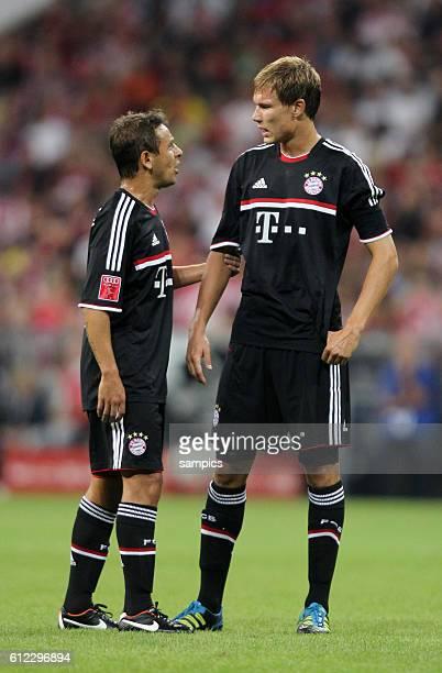 vl RAFINHA FC Bayern Munchen und Holger Badstuber FC Bayern Munchen Fussball Vorbereitung Audi Cup FC Bayern Munchen AC Mailand