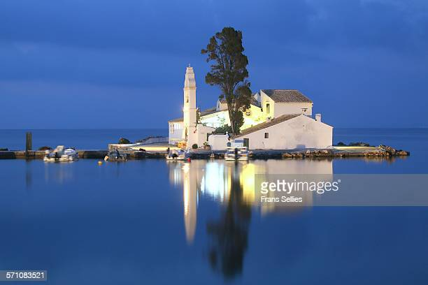 Vlacherna Monastery at Kanoni, Corfu, Greece