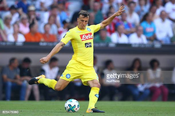 Vlad Chiriches of Napoli during the first Audi Cup football match between Atletico Madrid and SSC Napoli in the stadium in Munich southern Germany on...