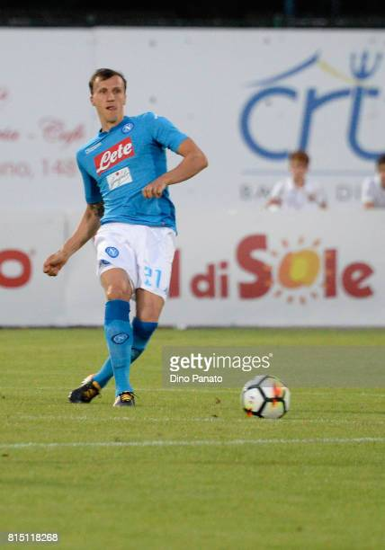 Vlad Chiriches of SSC Napoli during the PreSeason Friendly match between Trento and SSC Napoli at Stadio Briamasco on July 15 2017 in Trento Italy