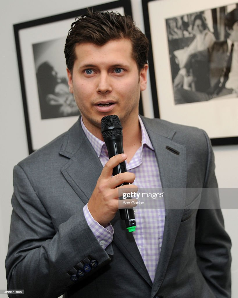 Vlad Ginsberg attends The Beatles 50 Year Commemorative Anniversary photo exhibit at Rock Paper Photo NYC Pop Up Gallery on February 4, 2014 in New York City.