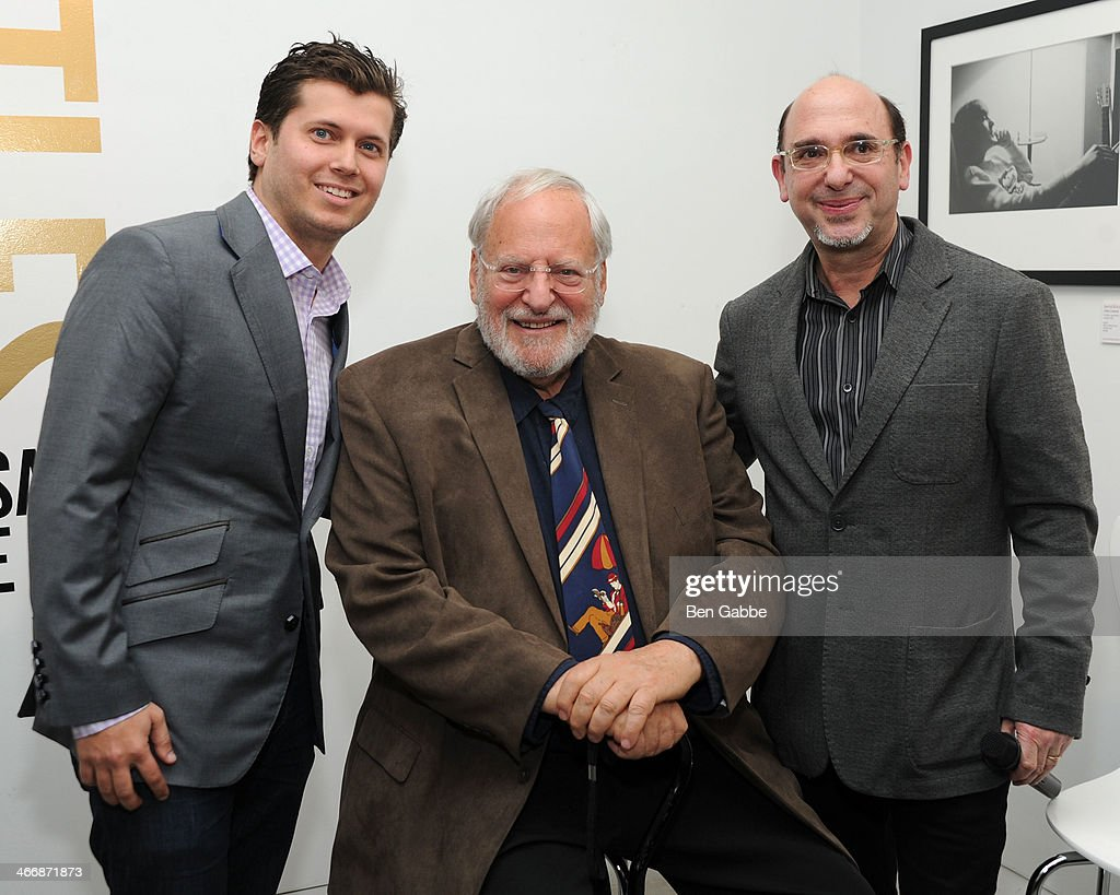 Vlad Ginsberg, Henry Grossman and Ed Baum attend The Beatles 50 Year Commemorative Anniversary photo exhibit at Rock Paper Photo NYC Pop Up Gallery on February 4, 2014 in New York City.